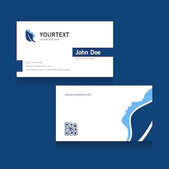 Cartão de visita ao logotipo do spa, design da capa azul, spa, anúncio, anúncios de revistas, catálogo