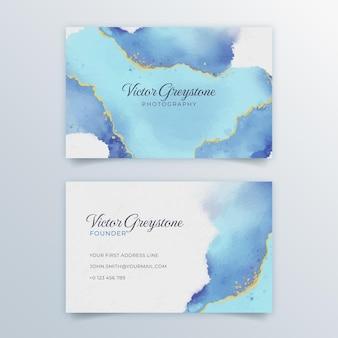 Cartão de visita aquarela abstrato