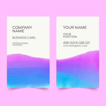 Cartão de visita aquarela