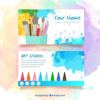 Cartão de visita artista