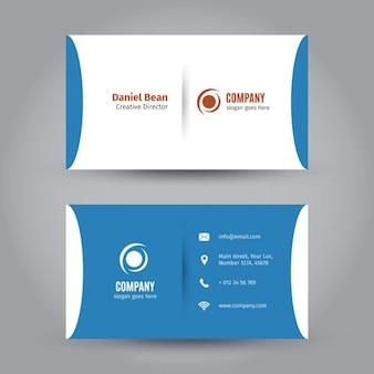 Cartão de visita azul corporativo