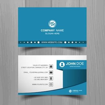 Cartão de visita azul