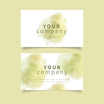 Cartão de visita caqui pastel das cores e dos cursos da escova