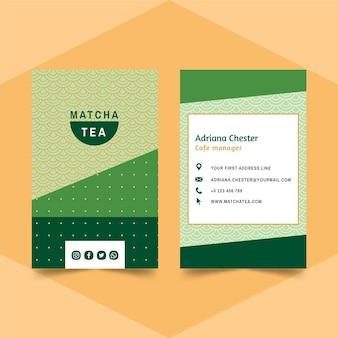 Cartão de visita chá matcha