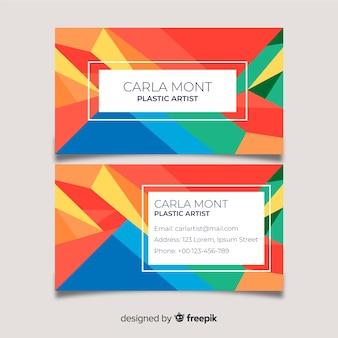 Cartão de visita colorido abstrato do modelo
