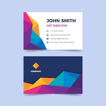 Cartão de visita colorido abstrato modelo
