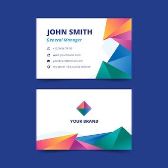 Cartão de visita colorido abstrato para gerente geral