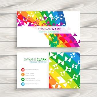 Cartão de visita colorido abstrato