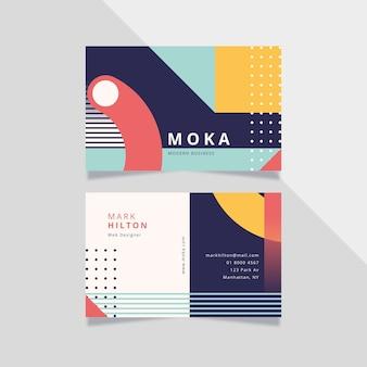 Cartão de visita colorido do web designer