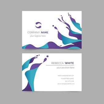 Cartão de visita colorido minimalista