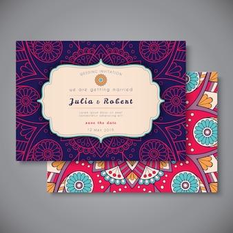 Cartão de visita colorido tribal