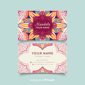 Cartão de visita com conceito de mandala
