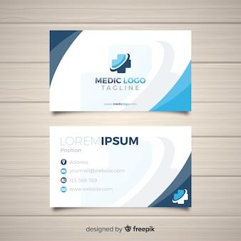 Cartão de visita com conceito médico