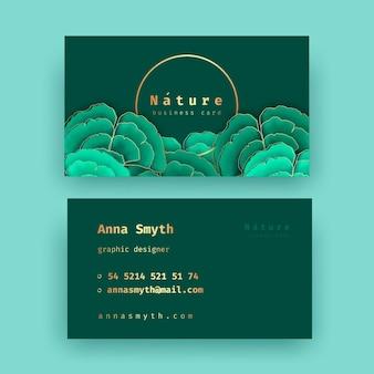 Cartão de visita com conjunto de motivos naturais