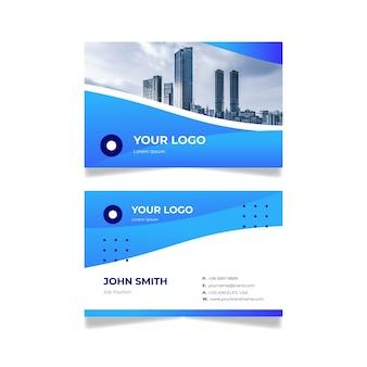 Cartão de visita com design abstrato foto