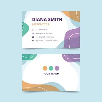 Cartão de visita com design abstrato para diretor de arte