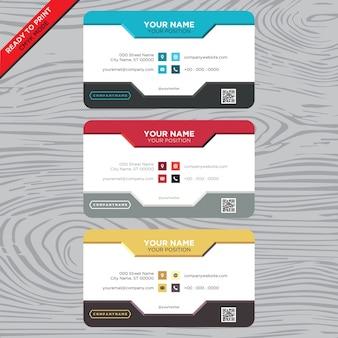 Cartão de visita com design clássico