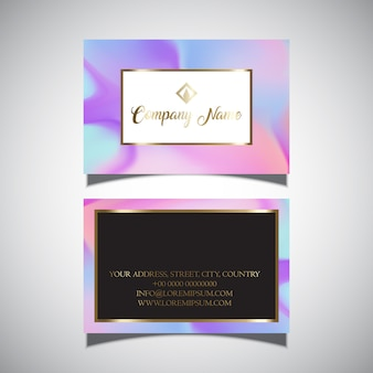 Cartão de visita com design de holograma