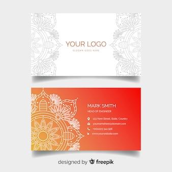 Cartão de visita com design de mandala
