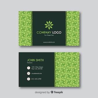 Cartão de visita com design de natureza