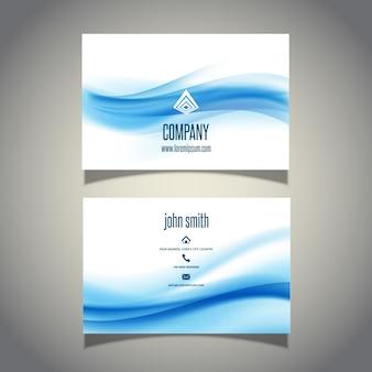 Cartão de visita com design de ondas