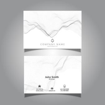 Cartão de visita com design de partículas fluidas