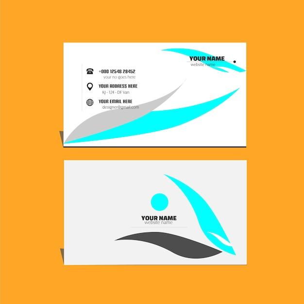 Cartão de visita com design elegante