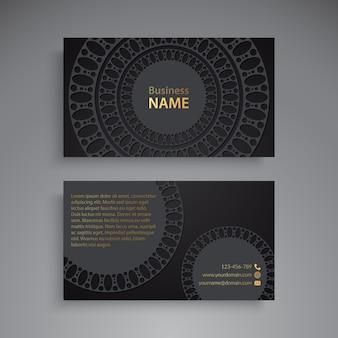 Cartão de visita com elementos decorativos vintage