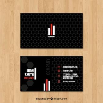 Cartão de visita com estilo minimalista