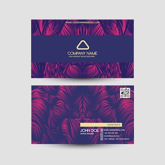Cartão de visita com estilos roxos