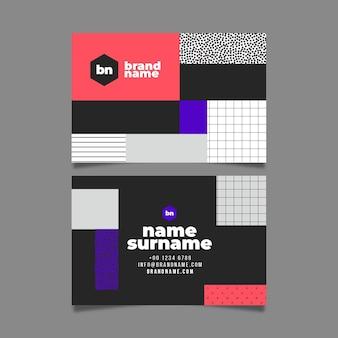 Cartão de visita com formas diferentes