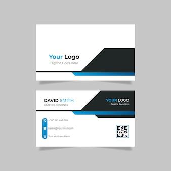 Cartão de visita com gradiente azul