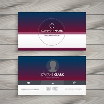 Cartão de visita com gradiente