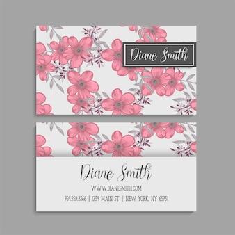 Cartão de visita com lindas flores.