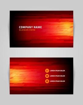 Cartão de visita com listras em modelo de estilo industrial