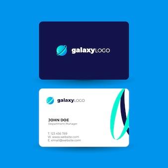 Cartão de visita com logotipo da galáxia