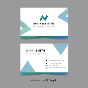 Cartão de visita com modelo de design abstrato