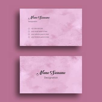 Cartão de visita, com modelo de design de fundo abstrato splash aquarela