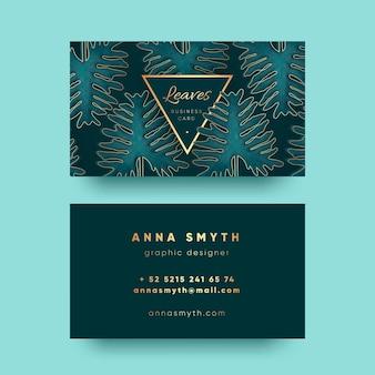 Cartão de visita com modelo de motivos naturais