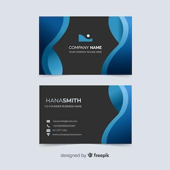 Cartão de visita com modelo de nome da empresa