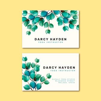 Cartão de visita com motivos naturais
