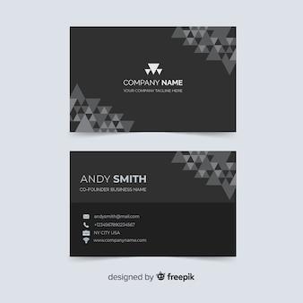 Cartão de visita com nome da empresa