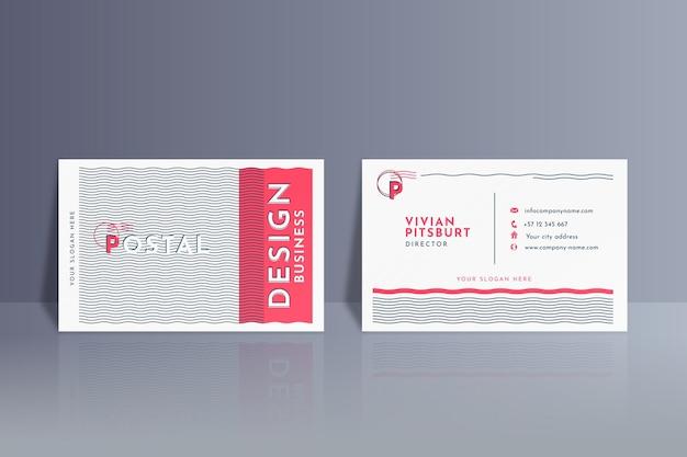 Cartão de visita com pacote de linhas distorcidas