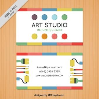 Cartão de visita com pontos, estúdio de arte