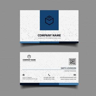 Cartão de visita com quadrados cinzentos