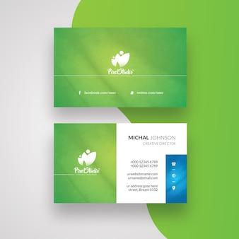 Cartão de visita com sotaque verde