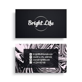 Cartão de visita com textura de mármore