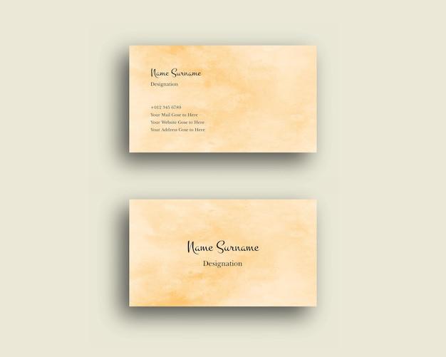 Cartão de visita com textura de pincel de sombreamento abstrato aquarela