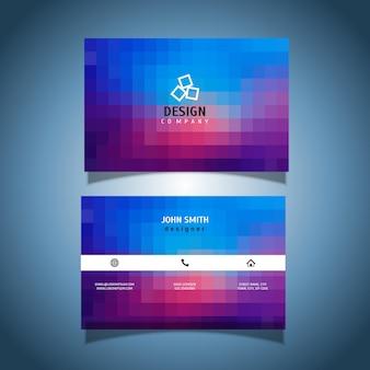 Cartão de visita com um design de pixel