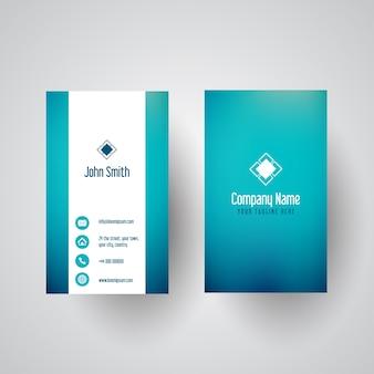 Cartão de visita com um design gradiente de cerceta